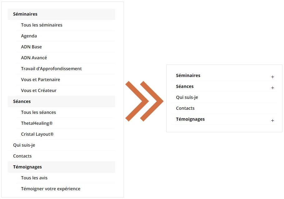 Collapse Divi mobile menu